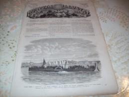 L�UNIVERS ILLUSTRE 25 JUILLET 1866 :  CHEMIN DE FER DU TYROL MERIDIONAL - FIESOLE - REGATES PARISIENNES