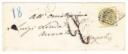 Kirchenstaaten - Mi.5 - Gelb 6 Baj Auf Brief 12.07.1867 Roma Nach Napoli - Kirchenstaaten