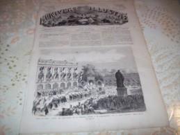 L�UNIVERS ILLUSTRE 28 JUILLET 1866 : POSE DU CABLE TRANSATLANTIQUE - FETES DE NANCY -