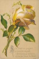 Image Pieuse * Chromo Si La Fleur Passe... Rose Jaune Gaufrée Carte De Voeux Illustrée Par Garry - Images Religieuses