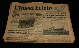 Guerre 39-45 WW2 BRETAGNE Journal L'OUEST-ECLAIR 15 num�ros Janvier 1940 Dr�le de Guerre ( 1) Morbihan