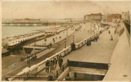 Royaume-Uni - Angleterre - Sussex - Promenades And Piers , Brighton - 2 Scans - état - Brighton