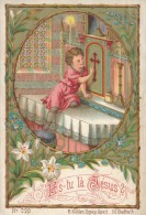 Image Pieuse * Chromo Enfant à L´Autel - Es-tu Là Jésus ? B Külhen - Devotion Images