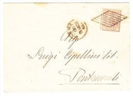Parma - Mi#9 - Briefhülle 11.2.1858 Parma Mit 15C Vermiglio Einzelfrankatur Nach Pontremoli - Parma
