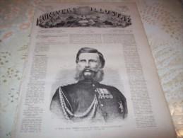 L�UNIVERS ILLUSTRE 4 AOUT 1866 : TELEGRAPHE TRANSATLANTIQUE - HONGRIE - ARTILLEURS PRUSSIENS - NEISSE