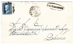 Sizilien - Mi#3 - Briefhülle 20.7.1959 Palermo Mit 2Gr. Blau Caltagirone Stempel - Sizilien