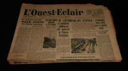 Guerre 39-45 WW2 BRETAGNE Journal L�OUEST-ECLAIR 15 num�ros F�vrier 1940 Dr�le de Guerre ( 3) Morbihan