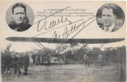 CPA 1930 COSTE ET BELLONTE AUTOGRAPHE CARTE SIGNE PAR COSTE ET BELLONTE 1re TRAVERSER  PARIS NEW  YORTK