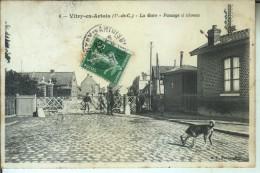 VITRY En ARTOIS La Gare Passage à Niveau - Vitry En Artois