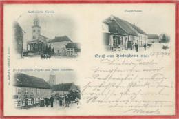 67 - GRUSS Aus HERBITZHEIM - Katholische Kirche - Hauptstrasse - Prot. Kirche - Hotel SCHREINER - France