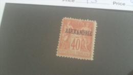 LOT 233653 TIMBRE DE COLONIE ALEXANDRIE NEUF* N�13 VALEUR 18 EUROS