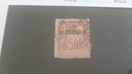LOT 233654 TIMBRE DE COLONIE ALEXANDRIE OBLITERE N�14 VALEUR 32 EUROS