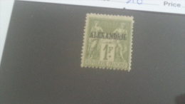 LOT 233658 TIMBRE DE COLONIE ALEXANDRIE NEUF* N�16 VALEUR 40 EUROS