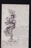 FEMME AU PARAPLUIE PAR CHARLOTTE 1901 - Mode