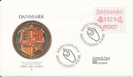 Denmark FDC 5-10-1990 Frama Label ATM 3,75 With Cachet - ATM - Frama (labels)