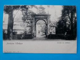 Cpa FONTAINE L EVEQUE Entree Du Chateau Nels Bruxelles , Serie 3 N°14 - Fontaine-l'Evêque