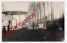 ANZIN-Kiosque A Musique-Carte Photo Allemande-Guerre14-18-1WK-Militaria-Frankreich-France-59- - Anzin