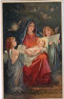 AK ENGEL ANGEL MADONNA JESUS WEIHNACHTEN   ALTE POSTKARTEN 1924 - Anges