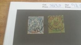 LOT 233723 TIMBRE DE COLONIE BENIN OBLITERE N�38/39 VALEUR 17,5 EUROS