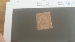 LOT 233725 TIMBRE DE COLONIE BENIN NEUF* N�41 VALEUR 12,5 EUROS
