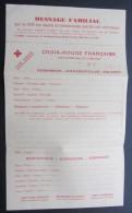 """Document Pour Communiquer Avec La Famille  Croix Rouge  1940  """"message Familiale"""" - Documents"""