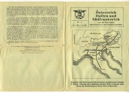 Oesterreich Italien Sudfrankreich - Orario Ferroviario Austria Italia Francia Del Sud 1960 - Europa