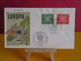 FDC - Allemagne, Europa CEPT - Bonn 1 - 14.9.1963 - 1er Jour, - [7] République Fédérale