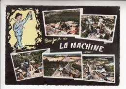 LA MACHINE (58) Vue Générale, Eglise Des Zagots, Puit Pré-Charpin. Jolie CPSM Dentelée GF Peu Fréquente N° 58530 Nièvre - La Machine