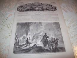 L�UNIVERS ILLUSTRE 18 AOUT 1866 : PANORAMA DE DRESDE - INDES - BIVOUAC DE PRUSSIENS