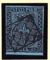 Parma 1852 Mi.#5 Gestempelt 40 Cent Signiert Raybaudi - Zentrischer Attraktiver Stempel - Parma