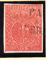 Parma 1853 Mi.#7 Gestempelt 15 Cent Rot Signiert Diena - Parma