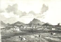 VILA DA ILHA DO PORTO SANTO - GRAVURA DE J. BULWER 1827 - (POSTAL RECENTE) - Madeira