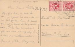049/23 -  Griffe De WENDUYNE Sur Carte-vue WENDUYNE - TP Lion Héraldique OOSTENDE 1932 Vers BXL - Poststempel