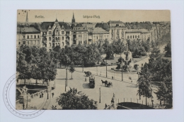 Old Postcard Germany - Berlin Lützowplatz, Old Tram And Horse Carriages - Posted - Tiergarten