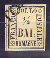 Romagna 1859 1/2 Baj.Mi.#1 Gestempelt Foto Attest Raybaudi - Romagne