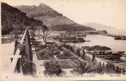 cpa ORAN, vue sur le port, Santa-Cruz et mers-el-k�bir, jardins � la fran�aise  (44.79)