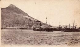 cpa ORAN, vue sur le port, Santa-Cruz, djebel Mourdjadjo, d�part dela medjerda, courrier postal  (44.80)