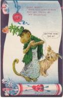 Valentines, Outcault Artist Signed, Monkey And Dog, Postcard-like But No Stamp Box - Seasons & Holidays
