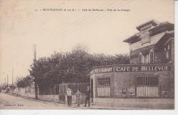 MONTGERON - Café De Bellevue - Rue De La Grange  PRIX FIXE - Montgeron