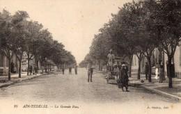 cpa ,  AIN-TEDELES, la grande rue, trottoirs, v�hicules hippomobiles,   (44.80)