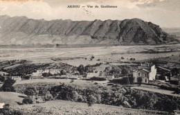 cpa ,  AKBOU, vue du gueldaman, maisons isol�es dans la grande plaine    (44.81)