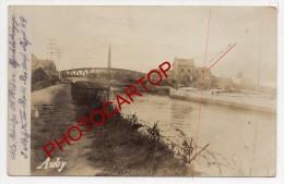 AUBY-Canal-Carte Photo Allemande-Guerre14-18-1WK-Militaria-Frankreich-France-59-Feldpost- - Auby