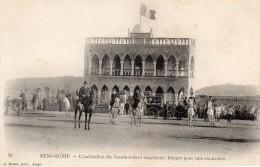 cpa ,  BENI-OUNIF, l'habitation du commandant sup., d�part pour une excursion, beaux messieurs avec canotier  (44.81)