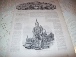 L�UNIVERS ILLUSTRE 8 SEPTEMBRE 1866 : ROI DE SIAM - AMAZONES DE LA GARDE DU ROI DE SIAM - CASERNE DE THUN EN SUISSE -