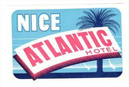ETIQUETA DE HOTEL  -  ATLANTIC HOTEL  -NICE - Hotel Labels