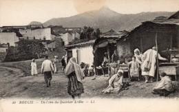 cpa 1928,  BOUGIE, un coin du quartier arabe avec ses �tals   (44.82)