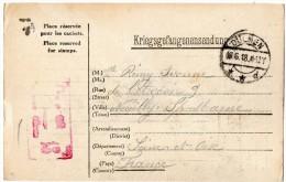 TB 508 - MILITARIA - Carte - Franchise Militaire - Prisonnier De Guerre Français - Camp De Dulmen ALLEMAGNE - NEUILLY - Guerre De 1914-18