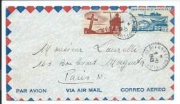 Lettre Par Avion Saint Pierre Et Miquelon,1949, Laurelli ( Enveloppe Seule) Très Propre,  Voir Deux Photos # - Unclassified