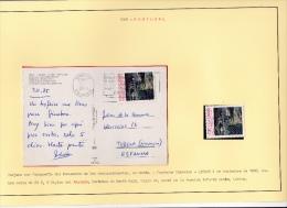 02015 Postal De Lisboa A Tudela 1985 + Un Sello - 1910-... République