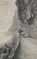 Route de Bougie � Djidjelli. Les grandes falaises. Algeria. Sent from Birkenhead  England to Denmark 1911.  s-1719